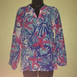 Lilly Pulitzer Elsa Silk Top. Never used size XS.